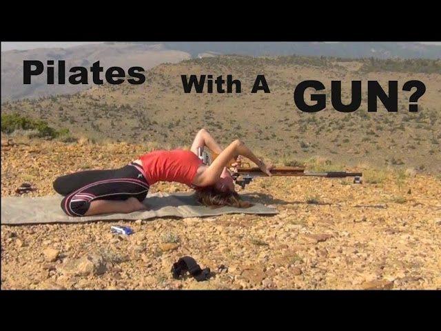 Gun Pilates TRICK SHOT Shooting Flexibility Kirsten Joy Weiss