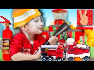 Аналог LEGO  пожарная машина! Две Мини Пожарных Машинки, обзор с Vladislav Time