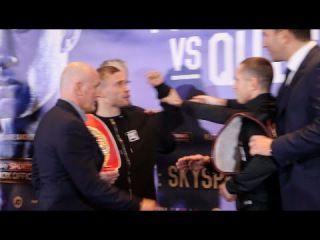 HEATED FACE OFF!! - CARL FRAMPTON v SCOTT QUIGG HEAD TO HEAD @ FINAL PRESS CONFERENCE (MANCHESTER)