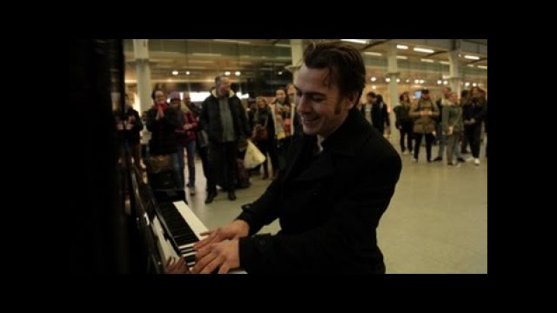 When a professional musician sits down at a public piano