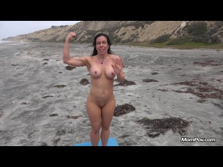 gretchen fit milf does yoga at nude beach (2014) hd
