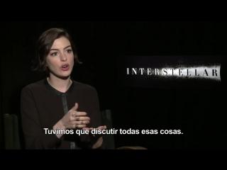 40-Minute Interstellar interview w- Jonathan  Christopher Nolan, Anne Hathaway, Jessica Chastain