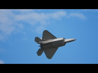RIAT 2016 Air Tattoo Airshow F-22 Raptor Display and Flypast with F-35A Lightning
