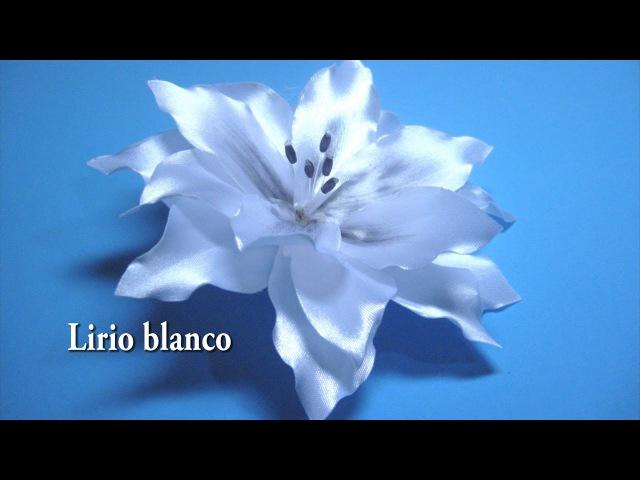 DIY Lirio blanco como se hace paso a paso DIY White lily as it is done step by step