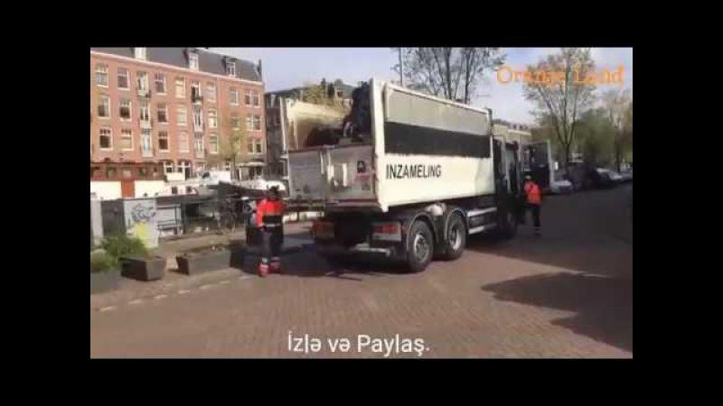 Orduxandan yeni video Zibil maşını sürücüsü 2200 € müavinat alır