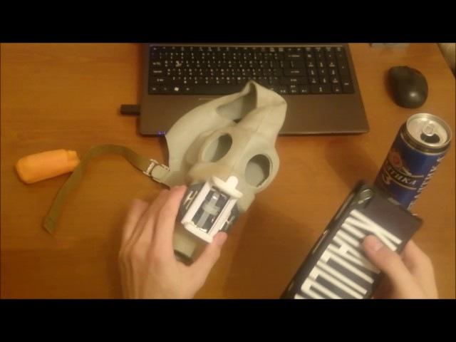 как сделать экшн камеру из телефона при помощи противогаза