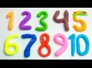 Учим цифры с Пластилином Плей До Учимся считать от 1 до 20 Детский канал Пластилин для детей