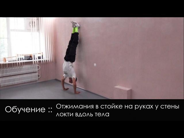 Отжимания в стойке на руках у стены обучение Wall Handstand push ups tutorial