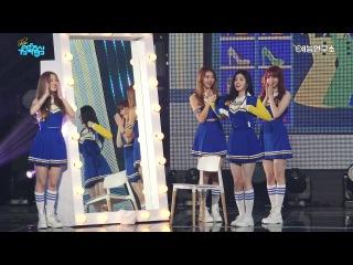 Fancam  Xiyeon & Cha Eunwo (feat. PRISTIN) - Girlfriend @ Show! Music Core