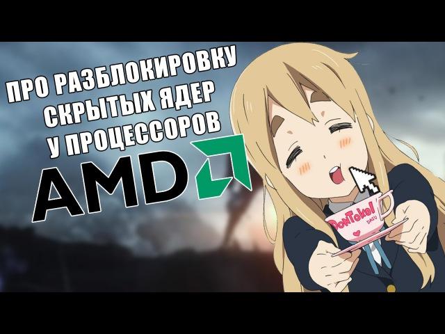 Про разблокировку скрытых ядер у процессоров AMD (На примере AMD Athlon II x3 435)