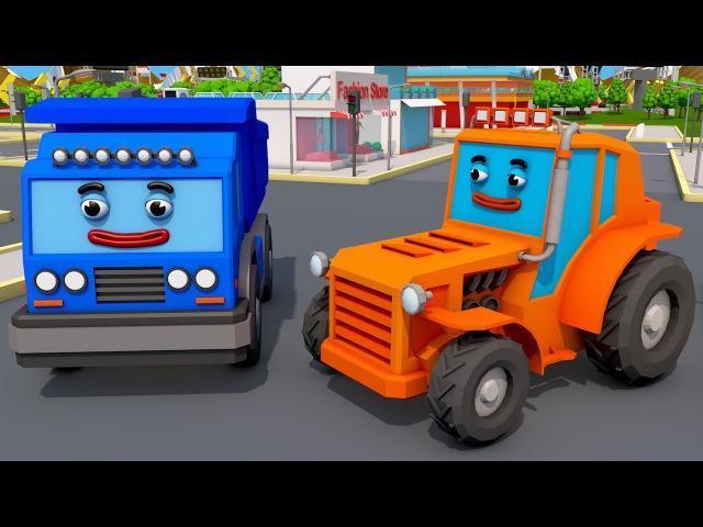 Bajki Traktor i kolorowy Traktorki Bitwa o przyczepie Tractors for kids