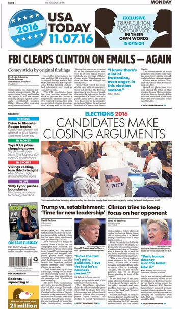 USA Today  November 07 2016