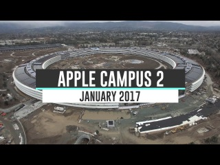 APPLE CAMPUS 2 January 2017 Construction Update 4K apple campus 2 january 2017 construction update 4k