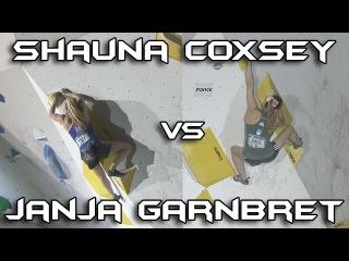 Janja Garnbret VS Shauna Coxsey - Bouldering Comparison