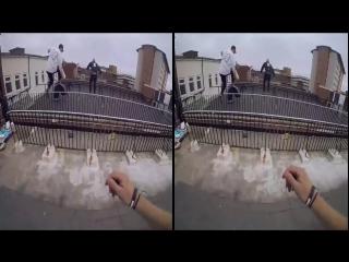 Parkour 3D Rooftop - 3D Full HD POV (3D SBS VR Box)