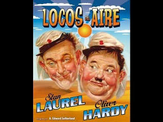 LOCOS DEL AIRE (THE FLYING DEUCES, 1939, Full movie, Spanish, Cinetel)