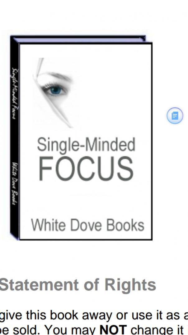 single minded focus
