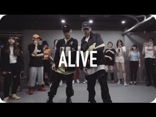 1million dance studio alive lil jon (ft. offset & 2 chainz) / jinwoo yoon choreography