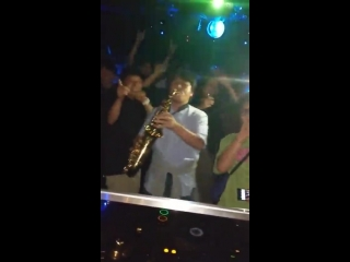 When a random guy with a saxophone shows up to the club