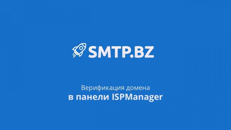 Верификация домена в панеле ISPManager Настройка DKIM SPF CNAME