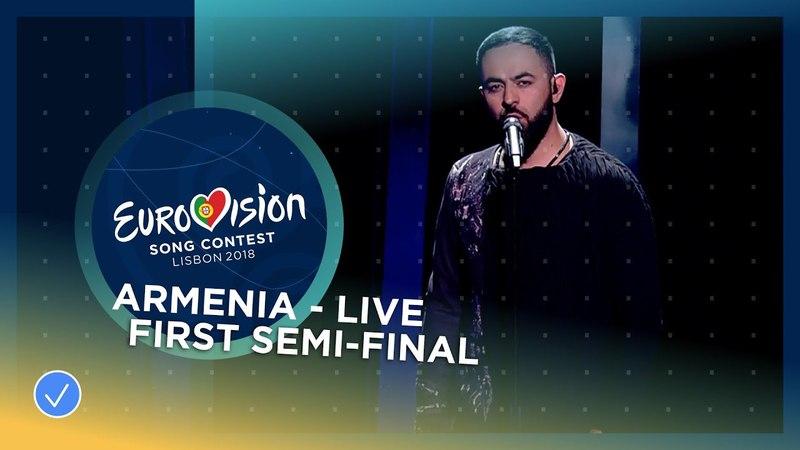 Sevak Khanagyan Qami Armenia LIVE First Semi Final Eurovision 2018