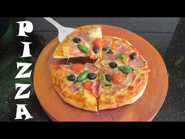 Pizza Dăm Bông vs Thịt Xông khói Пицца с Ветчиной и Грибами Food TV Luda Easy Cook Fast food
