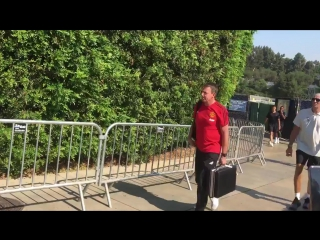 #mufc arriving at ucla