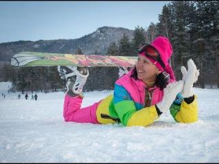 Горный Алтай зимой Манжерок снегоходы и сноуборды Новогодние каникулы на Алтае ...