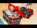 Мультик про СМЕЛЫЕ Рабочие Машинки Бульдозер Трактор и Экскаватор в Городке Мул