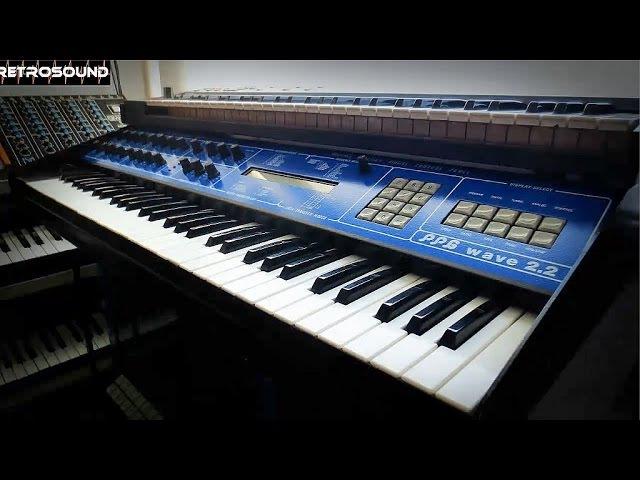 PPG wave 2 2 Synthesizer 1982 RetroSound soundscapes sound demo