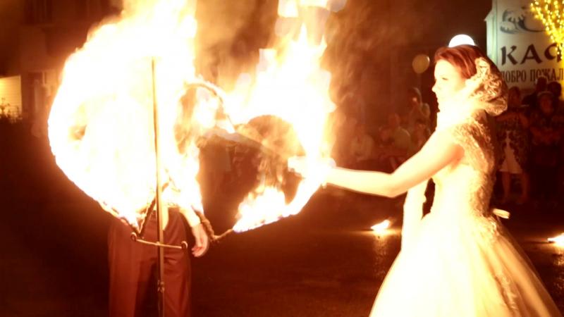 Огненно-пиротехническая шоу-программа День Ночь Свадьба в подарок Мегион Шоу-проект Самум Нижневартовск Стрежевой Радужный Сургу