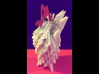 DIY: 3D Origami Tiny Rooster
