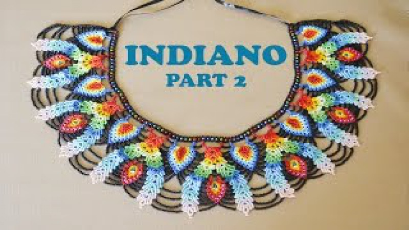 DIY part 2 INDIANO NECKLACE in Saraguro stitch. THANKS FOR SHARING