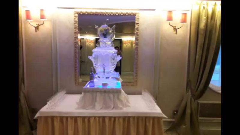 Ледяной самовар в @belmondgrandhoteleurope MariaCrystalIce 7-905-204-77-53 icesculpture