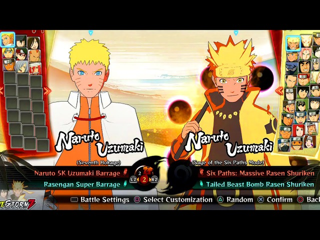Naruto Shippuden Ultimate Ninja Storm 4 - All Characters And Costumes (Including All DLC)