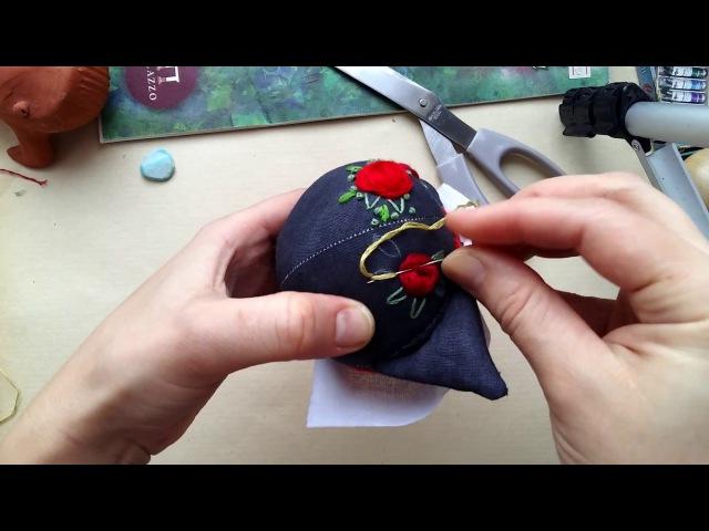 Вышивка лоб кошки 2