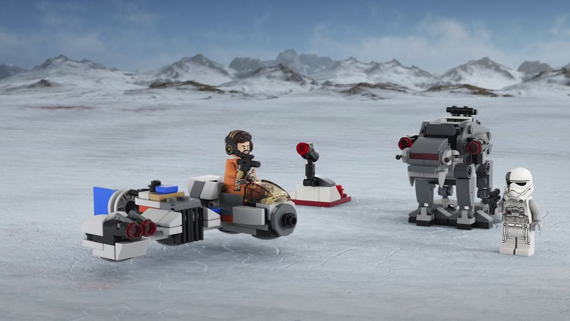 Ski Speeder vs. First Order Walker Microfighters - LEGO Star Wars - 75195 Product Animation