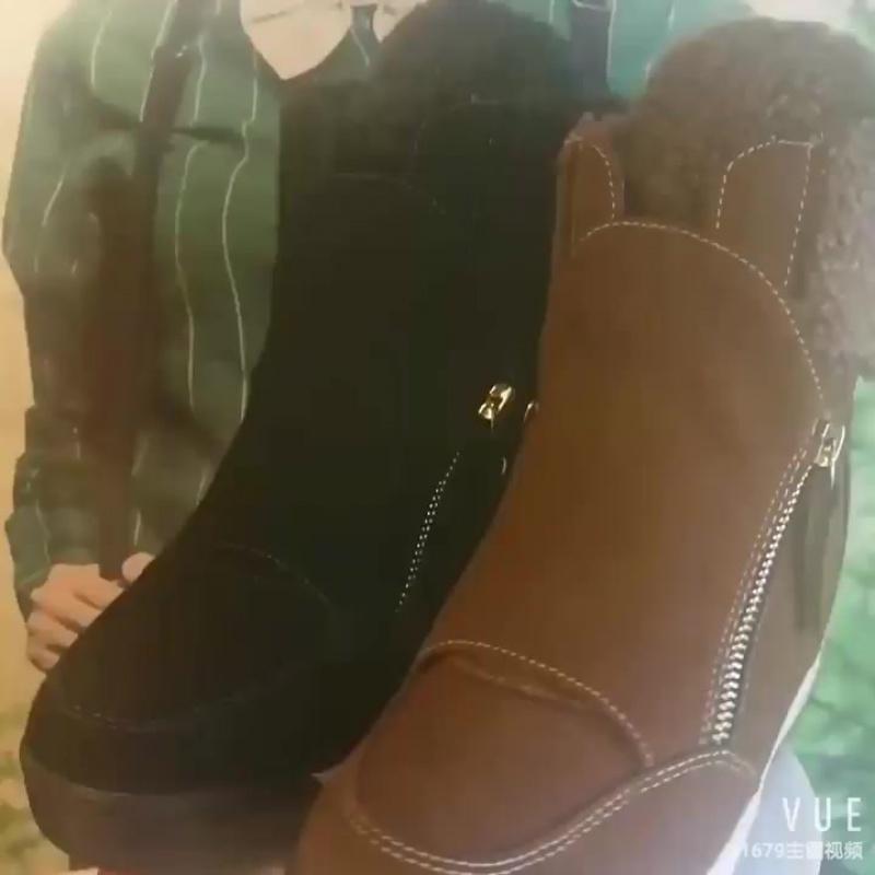 Ботинки зимние женские замшевые на платформе. Артикул ББ-80; ББ-81