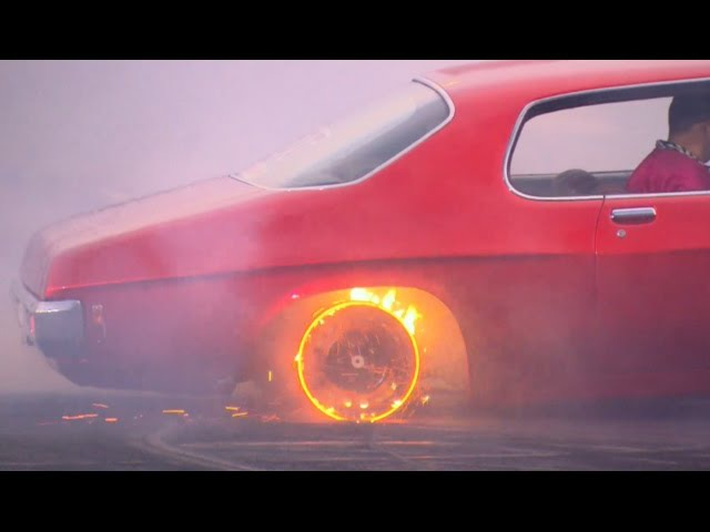 RED HOT RIMS burnout at Brashernats BURNOUT MASTERS qualifying