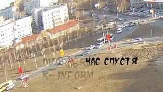 Малое ДТП привело к жёсткой аварии с пострадавшей в Сургуте