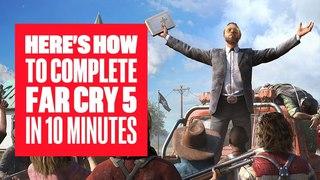 Far Cry 5 прошли за 10 минут