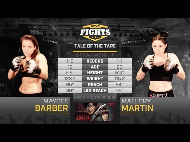 Best of 2017 Maycee Barber Mallory Martin Battle in the Mile High City at LFA 22