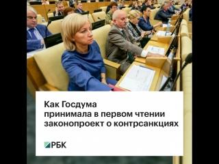 Как Госдума принимала в первом чтении закон о контрсанкциях