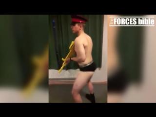 British army soldiers dancing to satisfaction [benni benassy]