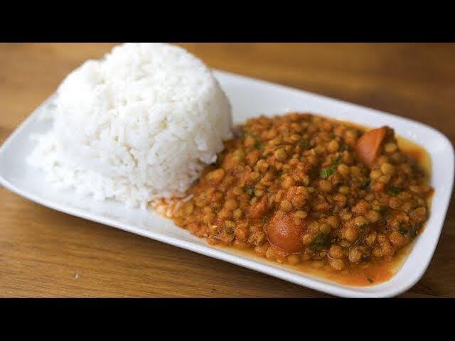КАРРИ из чечевицы с рисом Индийская кухня