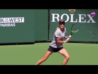 Vika Azarenka is gearing up for her comeback on the #BNPParibasOpen practice courts
