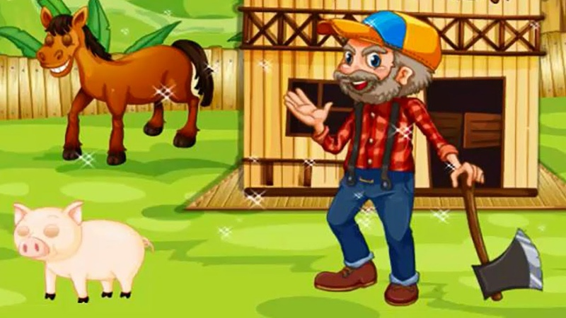 Развивающий мультик для детей Фермер Мистер Робинсон