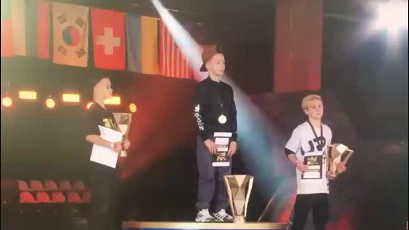 Награждение ROBC 2018_Ббой Гром - 1 место номинация kids