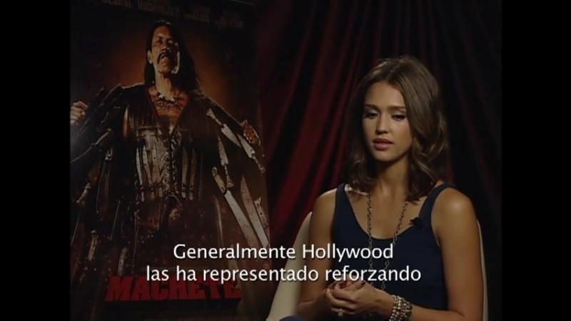 Machete Junket with Jessica Alba Interview by Liliana Moyano