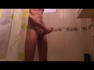 Fit amateur guy moaning loud while horny fast jerking and cumming 4k